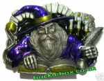 Wizard Belt Buckle + display stand. Code DH4